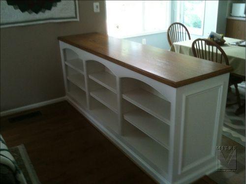 Built In Room Divider Ideas Built In Room Divider Halfwall Bookcase