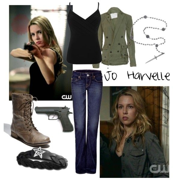 """Jo Harvelle - Supernatural"" by believeimmagic on Polyvore  i like the clothes. not so much the accessories. :P"