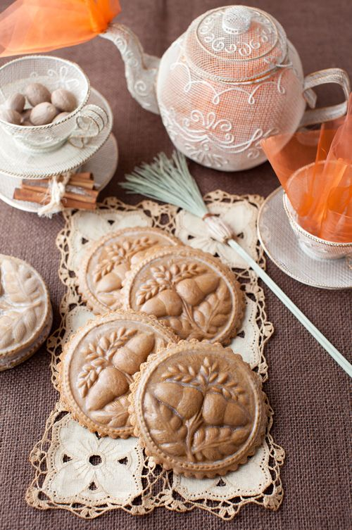 Molded Gingerbread Cookies with Clear Sugar Glaze