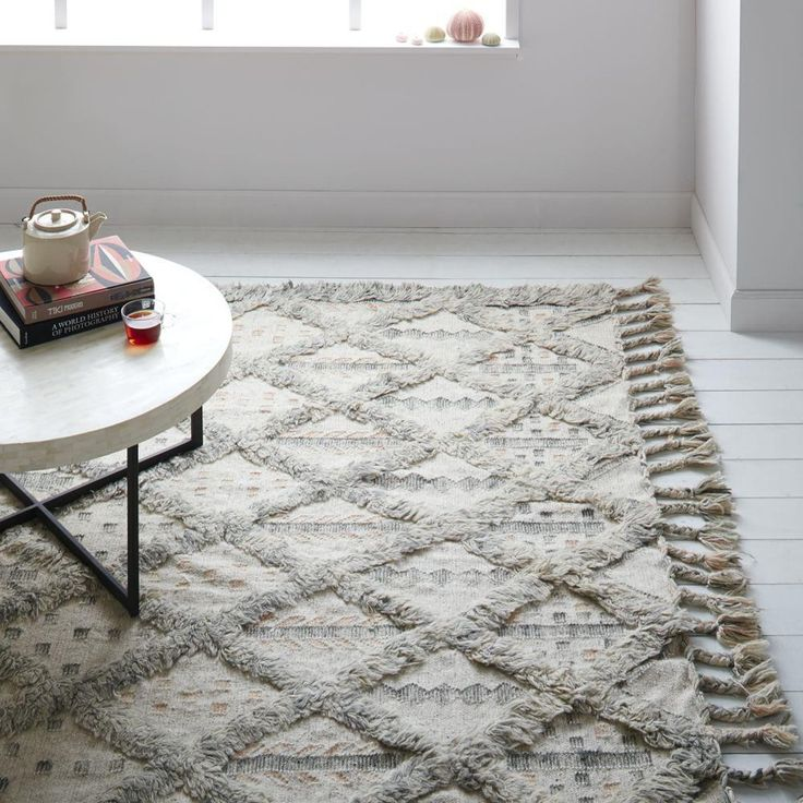 Inspired by traditional Persian carpets, our Bedouin Wool Kilim is flatwoven, with shag detailing and tasselled edges. Let it add to the unique story of your home.