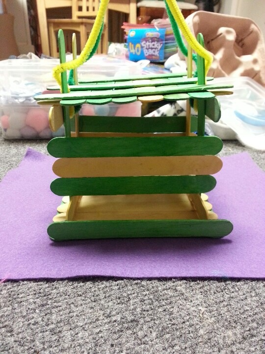 how to build an ark out of popsicle sticks
