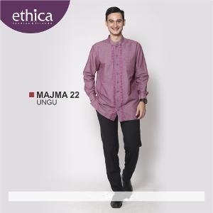 Baju Kemeja Pria Koko MAJMA 22 UNGU - Ramadhan Sale