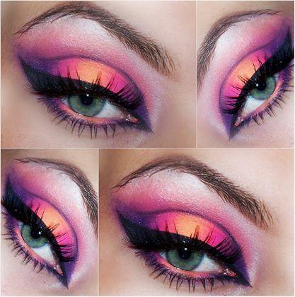 Makijaż z użyciem paletki Makeup Revolition Bright Matt :) POlecam @