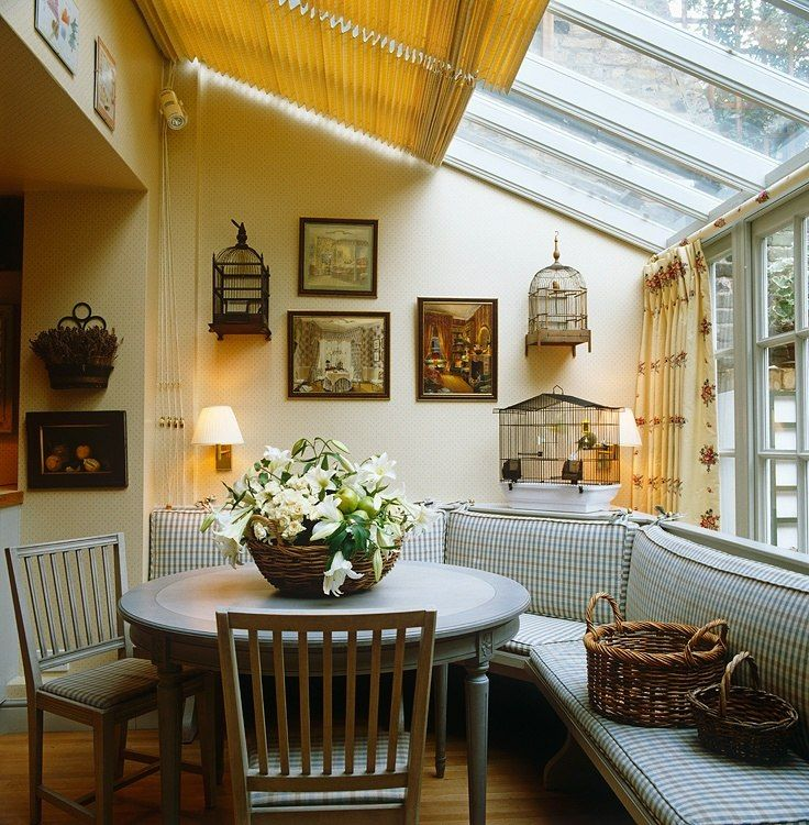 Solarium/dining. I would have edible plants on shelves and use outdoor furniture...