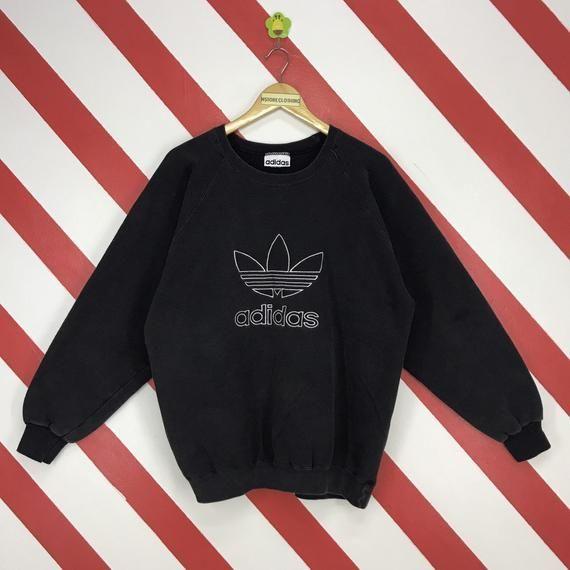 Vintage 90s Adidas Trefoil Sweatshirt Crewneck Adidas Three