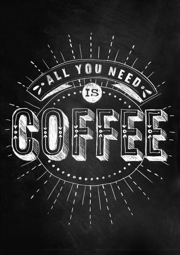 coffee typographie