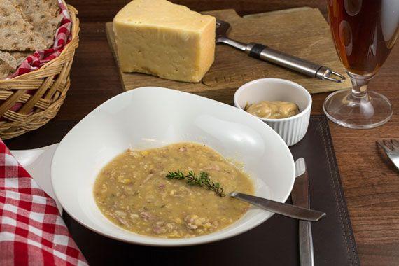 Swedish split pea soup - to serve on Thursdays with pancakes