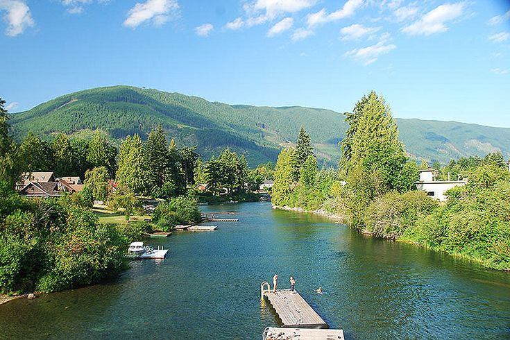 Duck Pond at Lake Cowichan, Cowichan Valley, Vancouver Island, British Columbia, Canada   by BCVacation
