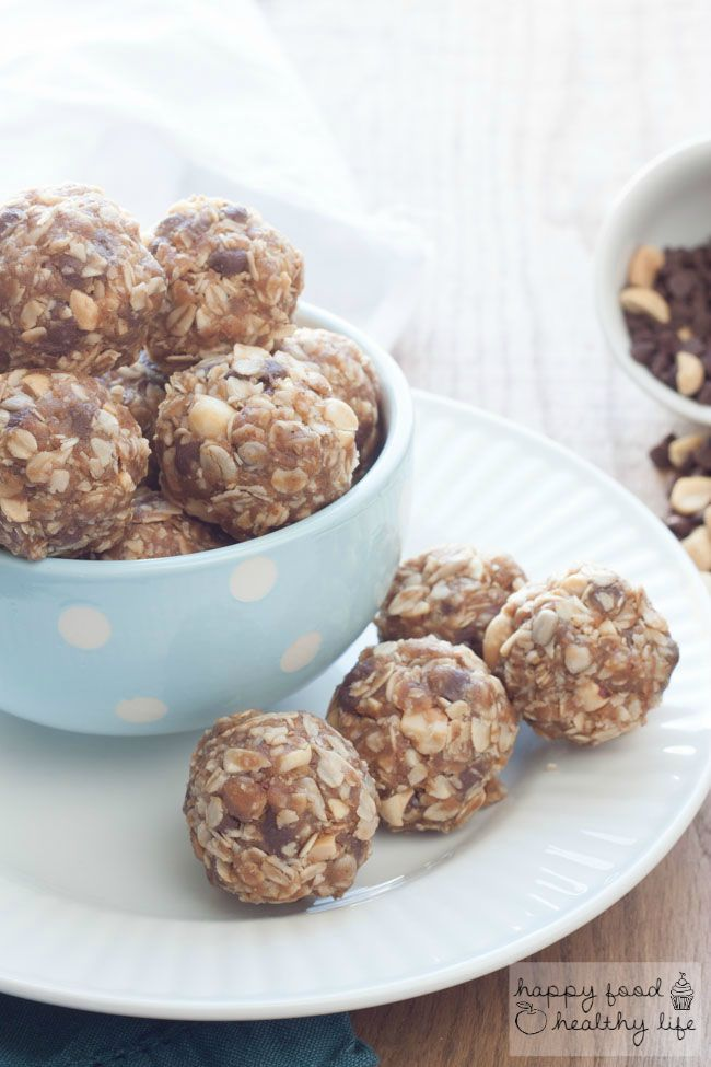 Chocolate Peanut Butter No-Bake Granola Bar Bites - an easy and healthy treat that tastes like your favorite candy | Happy Food Healthy Life
