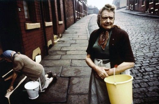 John Bulmer, North of England 60s/70s Scrubbing the front door step denoted a spotless home and a hard working housewife !