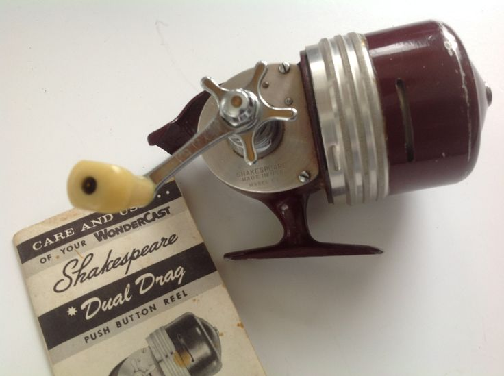17 best images about vintage fishing on pinterest for Push button fishing reel