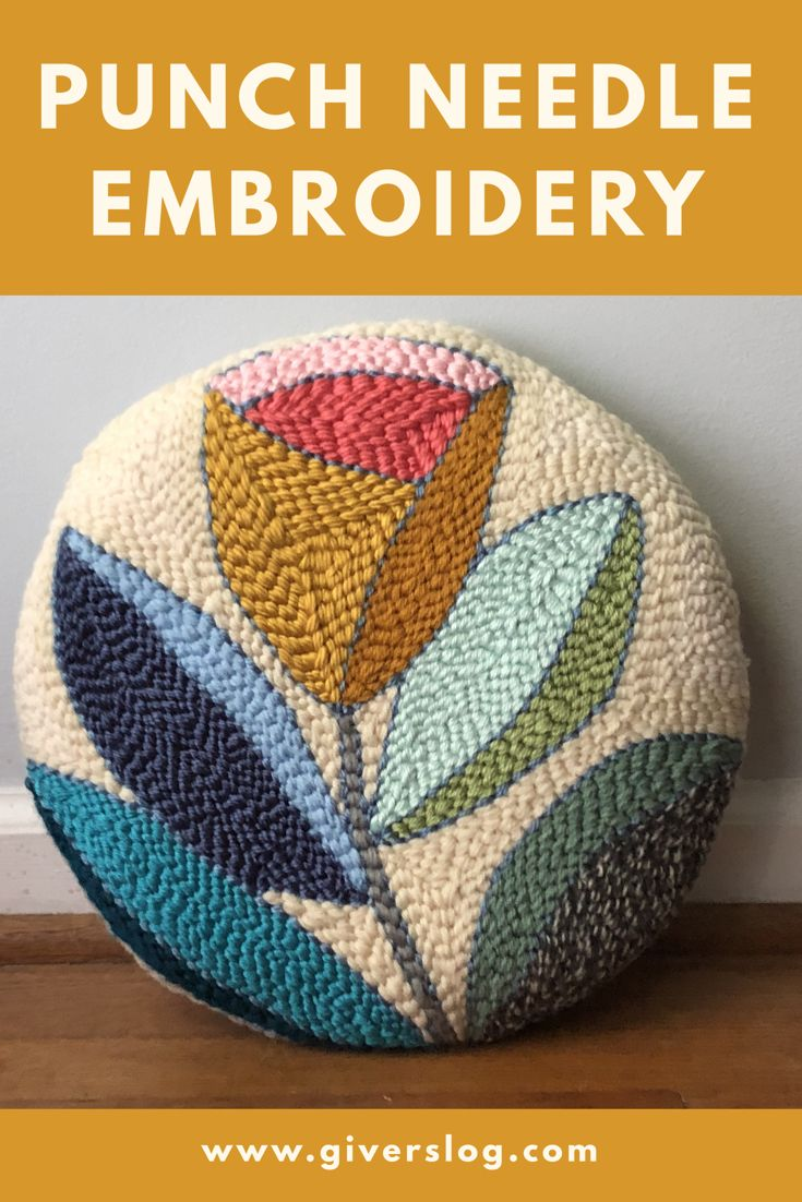 Learn all about punch needle embroidery