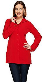 Linea by Louis Dell'Olio Wing Collar Woven Tunic
