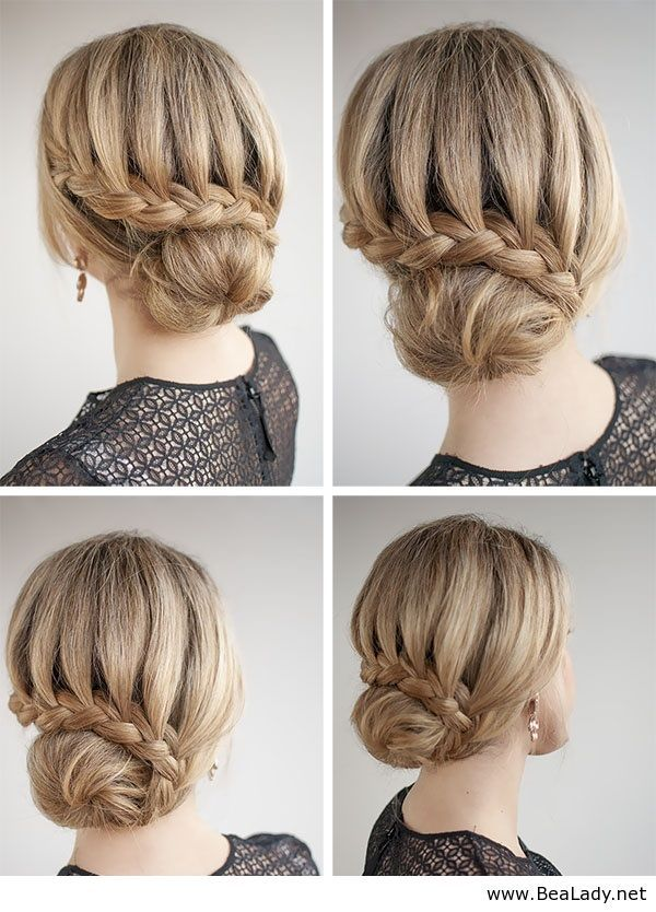 Lace braided bun hairstyle