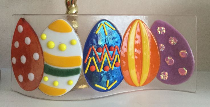 Fused glass - Easter eggs