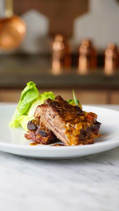 Dark beer imparts deep, delicious flavor to these juicy pork ribs.