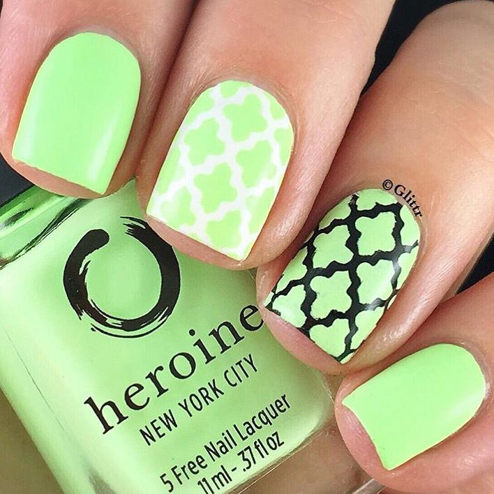 78 best St. Patrick\'s Day Manicures images on Pinterest | Diseños ...