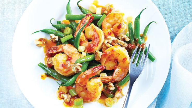 Hoisin-Chile Shrimp with Green Beans & Walnuts. Improve Your Life: Like all nuts, walnuts pack a punch when it comes to their fat content. But, they also abound with antioxidants (more polyphenols than any other common nut, as a matter of fact!), protein and heart-healthy alpha-linolenic acid (ALA), a plant-based omega-3 essential fatty acid.
