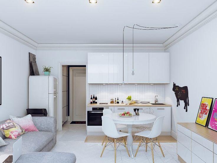 Дизайн кухни-гостиной 20м (кухни-студии) — Своими руками