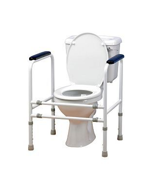 Homecraft AdjustableSteel Toilet Surround 10043657 236 Advantage card points. This adjustable width steel toilet surround isdesigned for those who have difficulty in standing up from a low seated position. FREE Delivery on orders over 45 GBP. http://www.MightGet.com/february-2017-1/homecraft-adjustablesteel-toilet-surround-10043657.asp
