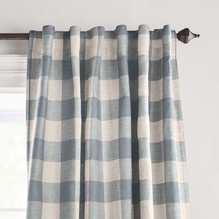 Laurel Foundry Modern Farmhouse Conor Plaid Blackout Thermal Single Curtain Panel Reviews Wayfair Curtains Elrene Home Fashions Panel Curtains