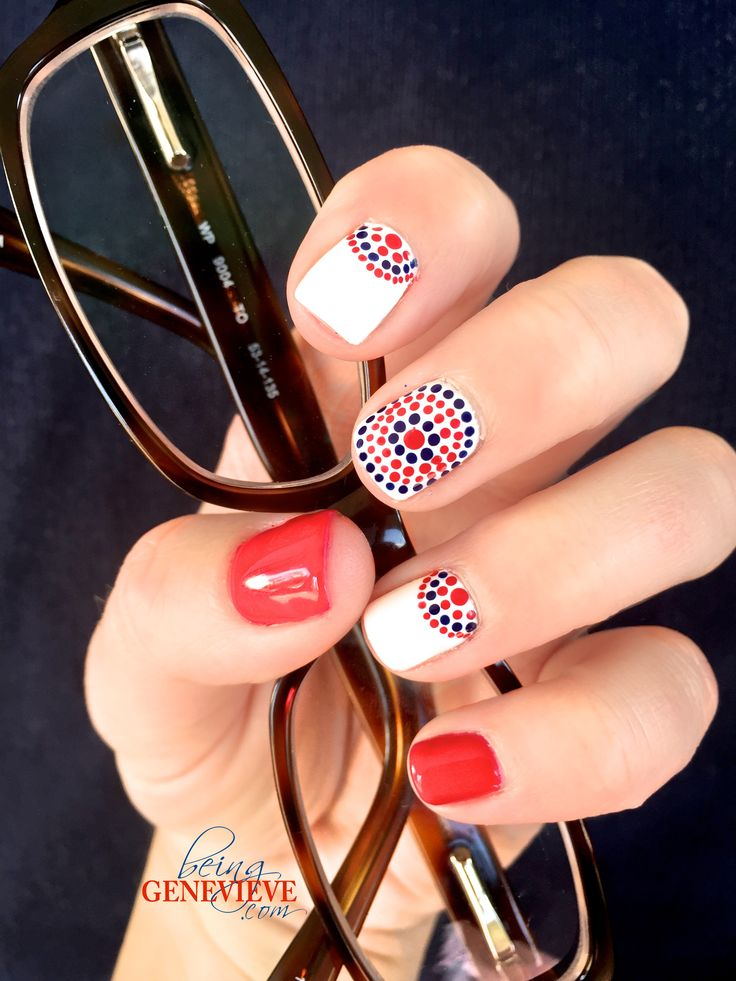 Vote Red or Blue | BeingGenevieve.com  Who are you going to vote for? This patriotic presidential nail art manicure is perfect for this voting month, the fourth of July or just if you want people to know you love your country. USA nail polish!