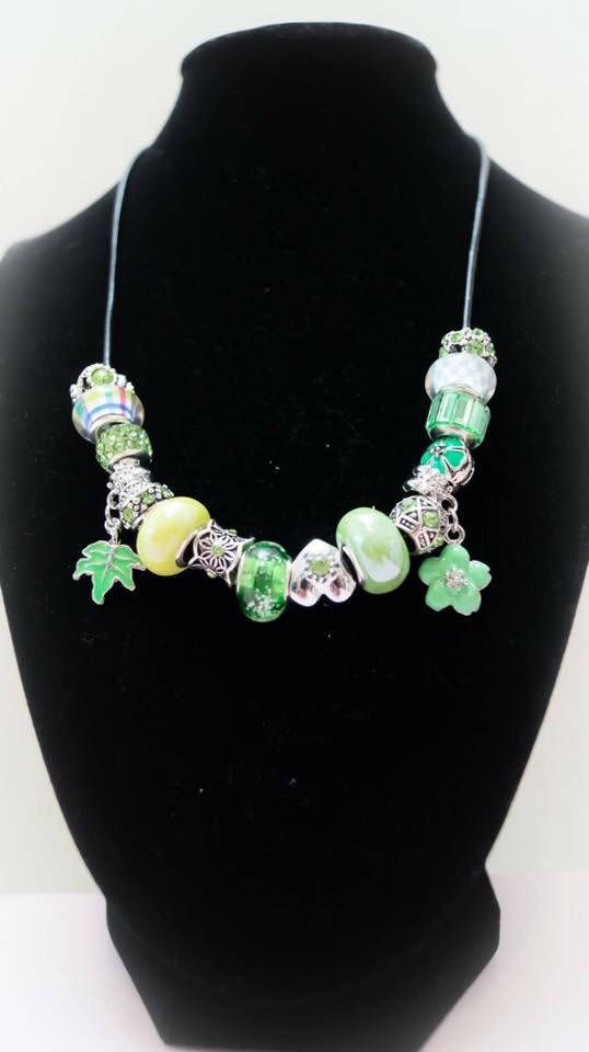 Excited to share the latest addition to my #etsy shop: Necklace 33 http://etsy.me/2CIpOZE #jewelry #necklace #silver #no #women #green #jewellery #accessorieswoman #luxuriousjewellery