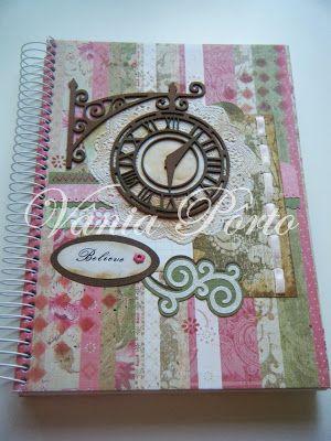 Caderno artesanal - Vintage