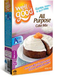Well and Good Gluten Free All Purpose Cake Mix. #wellandgood