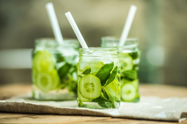 Refreshing fruit and vegetable summer drinks. (The weight loss claim is bogus!)