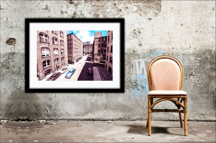 Vintage Style, Boston Photography, Architectural Wall Decor, Urban Cityscape, Photo Prints, Old School, Gangster, Large Wall Art,  Color Pop by Bear8Photo on Etsy
