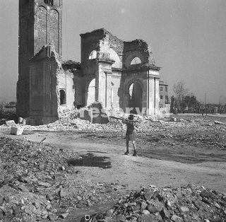 marzo 1946 la foto mostra una chiesa di Rimini_rimini foto di guerra