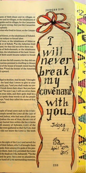 Easy Bible Art Journaling Journey: Judges 2:1 (April 27th)