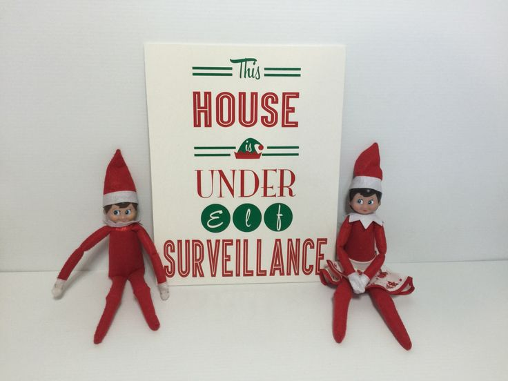 A personal favourite from my Etsy shop https://www.etsy.com/au/listing/253284139/elf-on-the-shelf-signboard