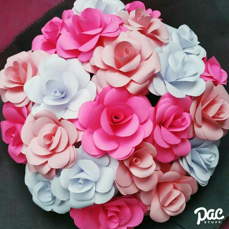 Pink Rose Paper Flowers