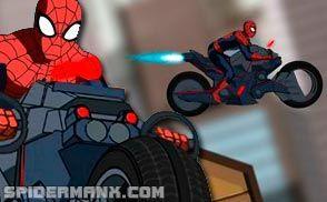 Motorcycle Spiderman Ultimate Spiderman Online Games