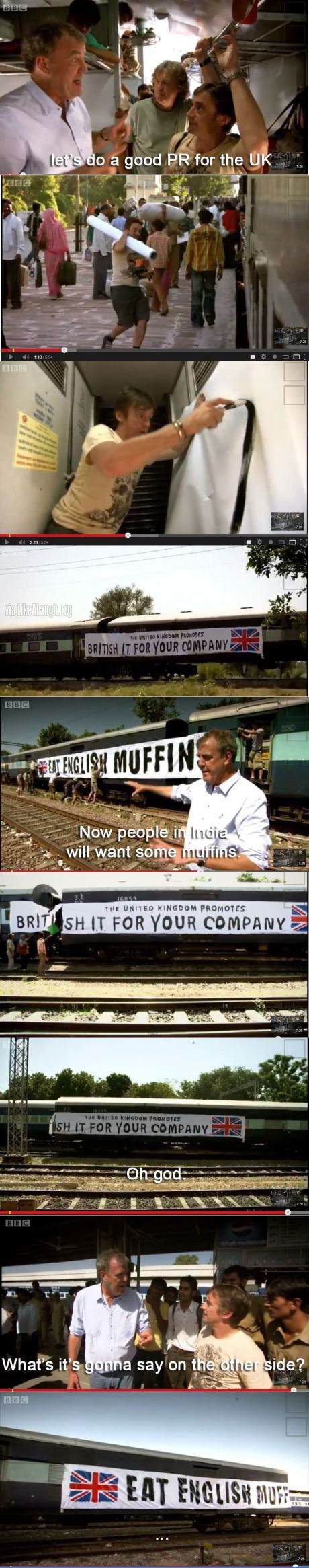 Top Gear does advertising--this episode was so funny.