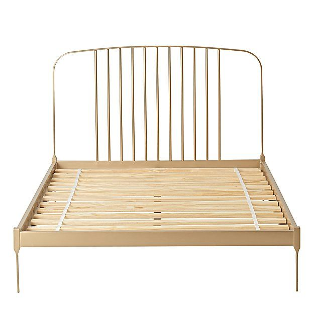larkin gold low footboard twin bed - Low Twin Bed Frame