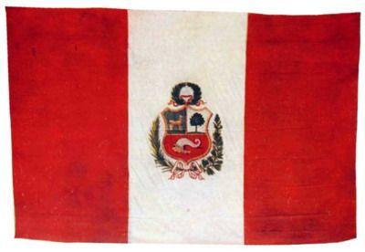 Bandera del monitor Huáscar capturada tras el Combate de Angamos