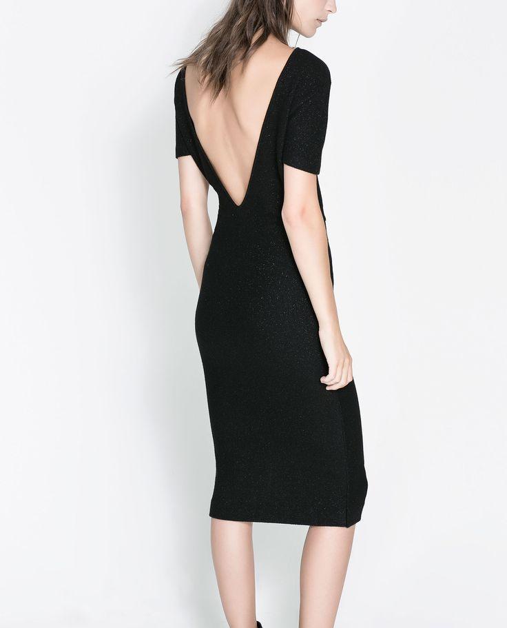 robe fil m tallis dos d collet robes femme zara. Black Bedroom Furniture Sets. Home Design Ideas