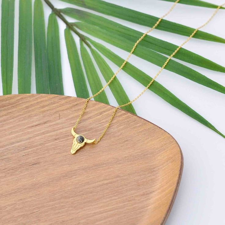 Buffalo Black Gold Necklace - Majolie