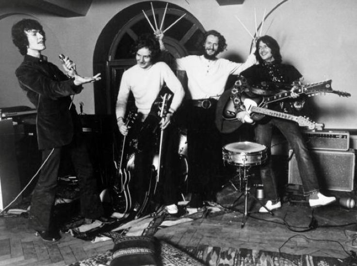 On this day in 1969 : Eric Clapton and Ginger Baker of Cream - Band announce that they are forming a new group with Steve Winwood of Traffic (band). Ric Grech later joins on bass, and the group is called Blind Faith - Band.