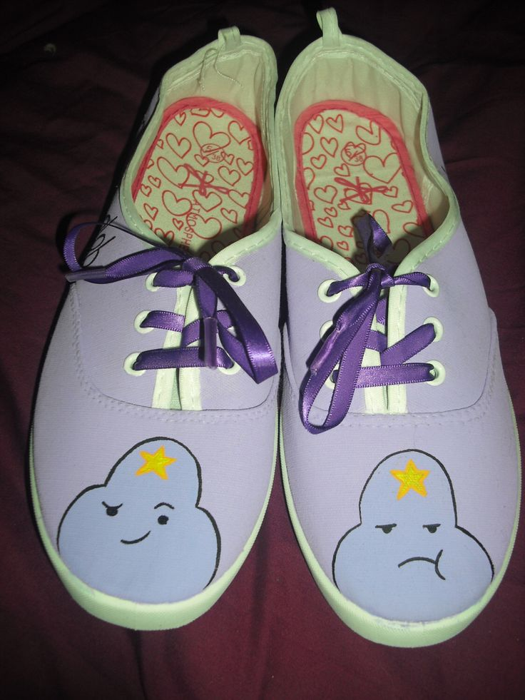 Adventure Time Inspired Lumpy Space Princess hand painted shoes by RomanticPanda on Etsy https://www.etsy.com/uk/listing/219934402/adventure-time-inspired-lumpy-space