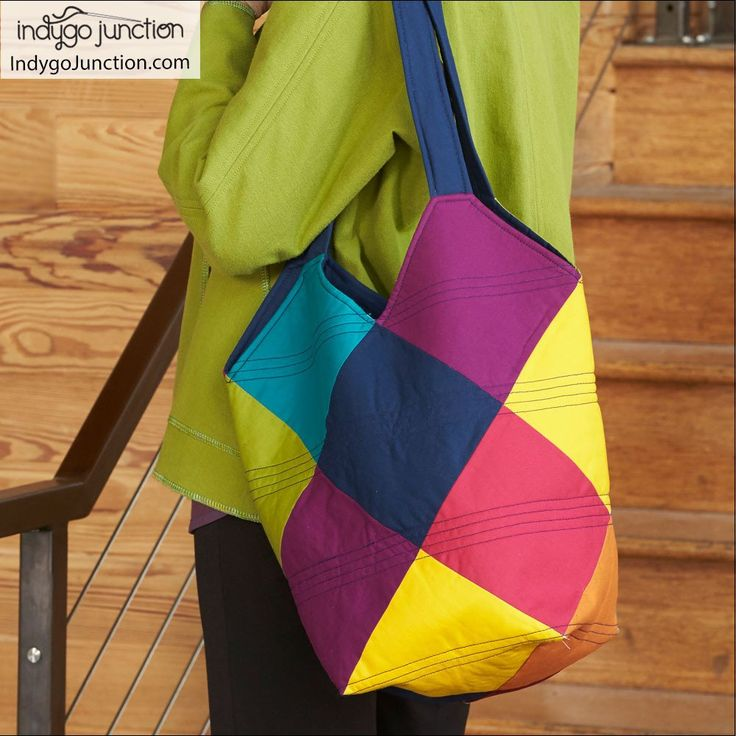 Tote-All Patchwork Tote Pattern