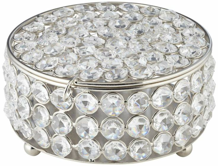 Cristalis Crystal 3-Inch Round Jewelry Box #interior_design #home_accessories See more http://www.eurostylelighting.com/home+accessories-category/search.htm