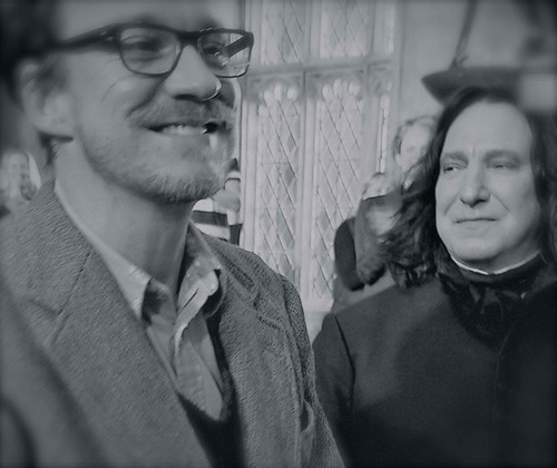 Remus Lupin & Severus Snape, last day of filming for them.