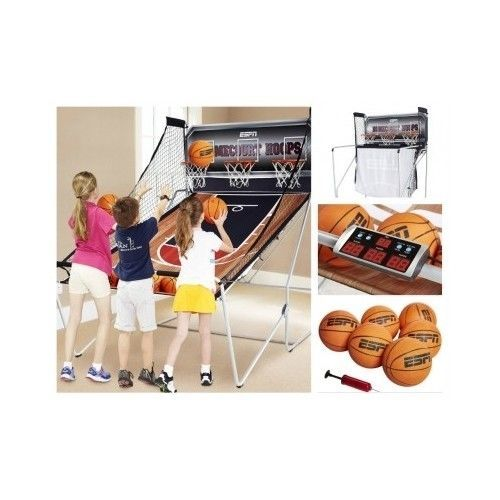 Indoor-Basketball-Game-Arcade-Sports-FOLDING-Kids-Adults-Electronic-Hoops-Led