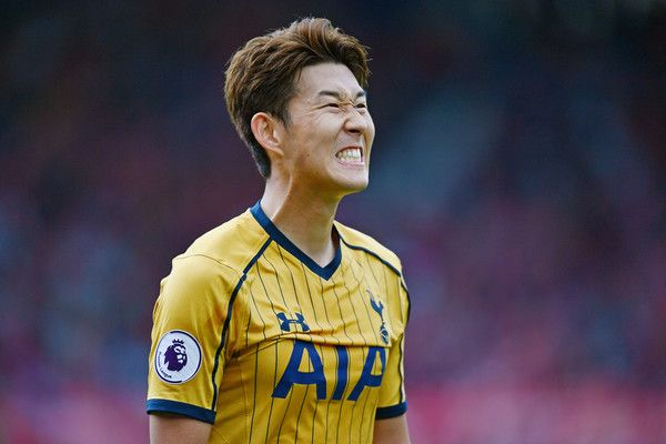 Heung-Min Son of Tottenham Hotspur reacts  during the Premier League match between Middlesbrough and Tottenham Hotspur at the Riverside Stadium on September 24, 2016 in Middlesbrough, England.