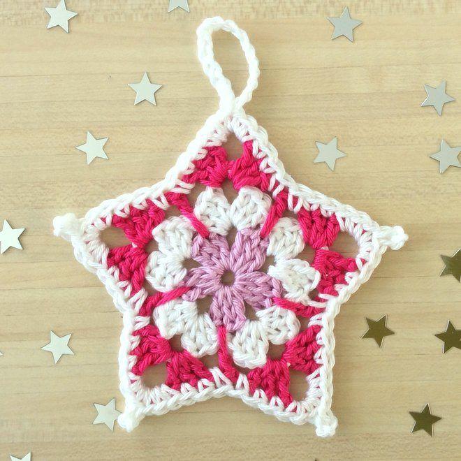Pour les Fêtes : Lot de 6 étoiles au crochet pour décorer votre maison : Accessoires de maison par aglae-crochet-tricot