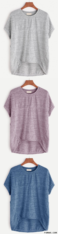 High Low Marled T-shirt